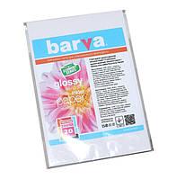 Фотобумага Barva, глянцевая, односторонняя, A6 (10x15), 200 г/м2, 20 л (IP-CE200-215)