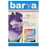 Фотобумага Barva, глянцевая, односторонняя, A6 (10x15), 230 г/м2, 100 л (IP-C230-126)