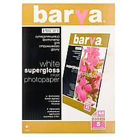 Фотобумага Barva, суперглянцевая, односторонняя, A4, 285 г/м2, 5 л (IP-R285-T01)