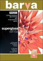 Фотобумага Barva, суперглянцевая, односторонняя, A3, 255 г/м2, 20 л (IP-R255-062)