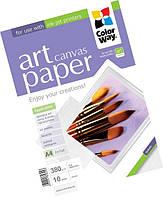 Фотобумага ColorWay Art Canvas (полотно) для струйной печати, 380 г/м, A3+, 10л (PCN380010A3+)