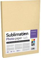 Фотобумага ColorWay сублимационная, матовая, 100 г/м2, A4, 50 л (PSM100050A4)