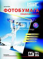Фотобумага IST глянцевая, двухсторонняя, 220 г/м2, A4, 50 л (GD220-50A4)