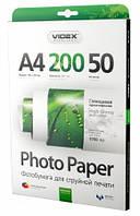 Фотобумага Videx глянцевая, A4, 200 г/м, 50 л (HGA4 200/50)