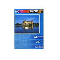 Фотобумага Videx глянцевая, A6 (10x15), 260 г/м, 100 л (HGA6 260/100)
