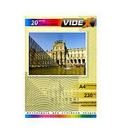 Фотобумага Videx двухсторонняя, глянцевая/матовая, A4, 230 г/м, 20 шт (GMA4 230/20)