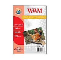Фотобумага WWM, глянцевая, 180 г/м2, A6 (10х15), 500л (G180.F500)