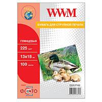Фотобумага WWM, глянцевая, 225 г/м2, 13х18, 100л (G225.P100)