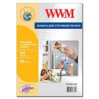 Фотобумага WWM, с магнитной подложкой, глянцевая, A4, 20 л (G.MAG.20)