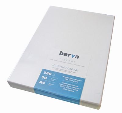 Холст Barva 'Fine Art', глянцевый, ярко-белый, для репродукций и фоторабот, A4, 380 г/м2, 50 л (IC-XR20-104) - Sale365 в Николаеве