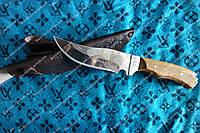 Нож охотничий ручной работы Рысь, кожаный чехол в комплекте