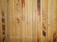 Обои из бамбука (черепаховые тёмные-пропил) ширина планки12\8мм  высота 1,5м.