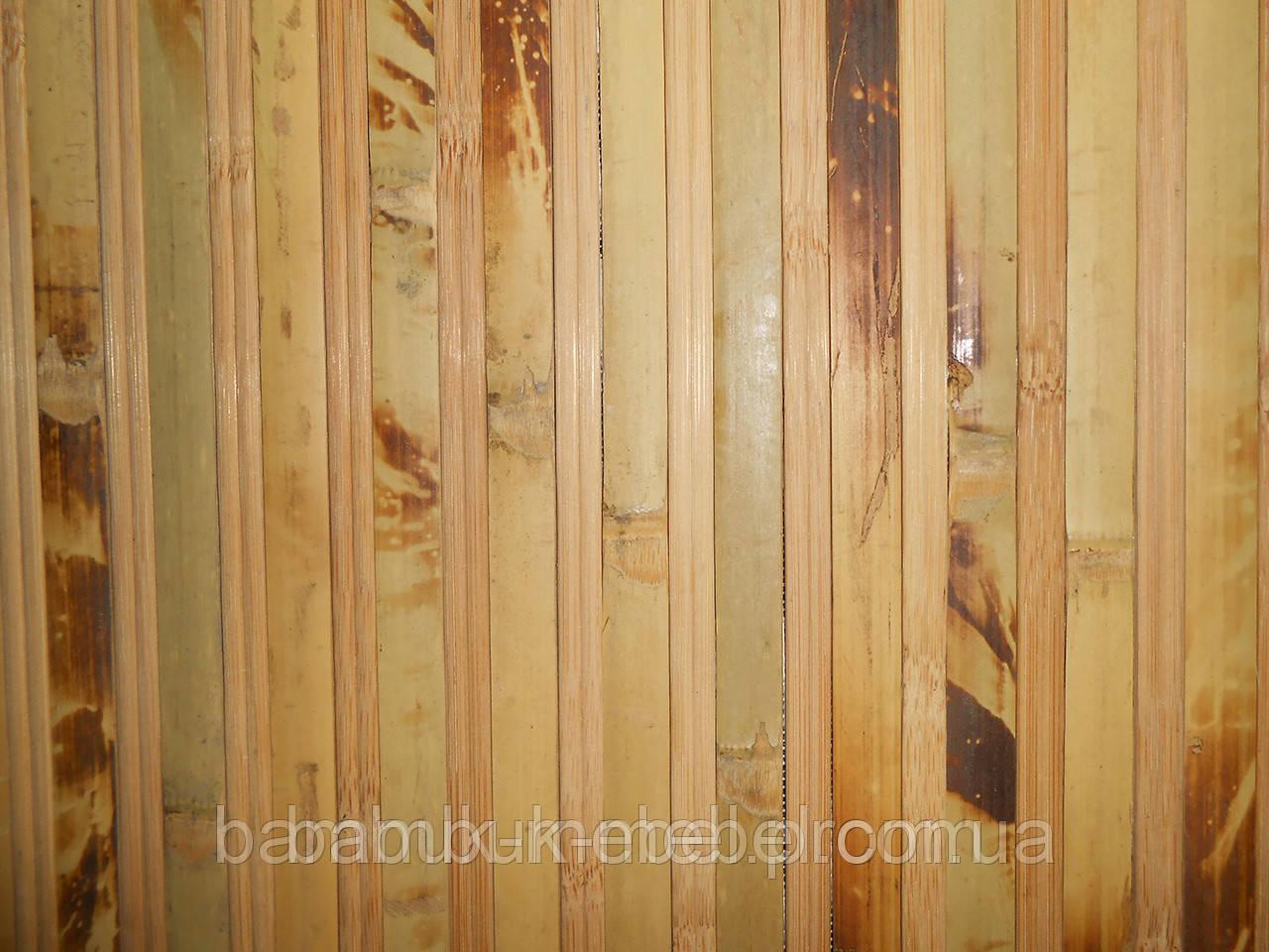 """Обои из бамбука (черепаховые тёмные-пропил) ширина планки12\8мм  высота 1,5м. - ЧП """"Бамбук Мебель"""" в Днепре"""