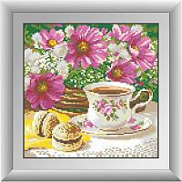 Алмазная мозаика квадратными камнями «Утренний чай» Dream Art 30278 (29 х 29 см) на холсте