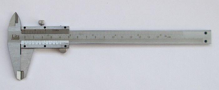 Механический штангенциркуль Litz в чехле, 150мм