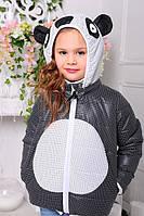 Весенняя курточка на девочку Панда