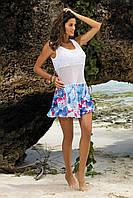 Цветочная пляжное платье