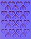 """Молд силиконовый """"Английский алфавит-сердечки"""" 12,3 см 9,8 см 9,5 см, фото 2"""