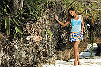 Цветочная пляжное платье BAIA(3), S