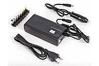 Универсальное зарядное к ноутбукам HQ-Tech HQ-AD90MU LCD, Black, 90W, 12V/15V/16V/18V/19V - 4.75A, 20V - 4.5A, 22V/24V - 3.75A, 1xUSB (5V/1A), 8