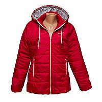 Куртка женская красная оптом со склада в Одессе  KD425-1