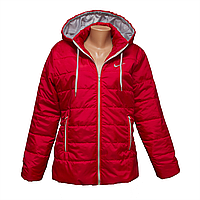 Куртка женская красная женские больших размеров интернет магазин недорого  KD425-1