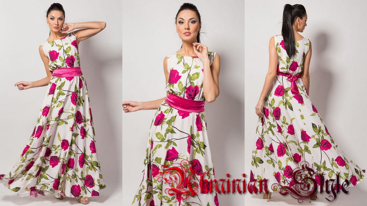6608bc038023 Летнее штапельное платье в пол с цветами