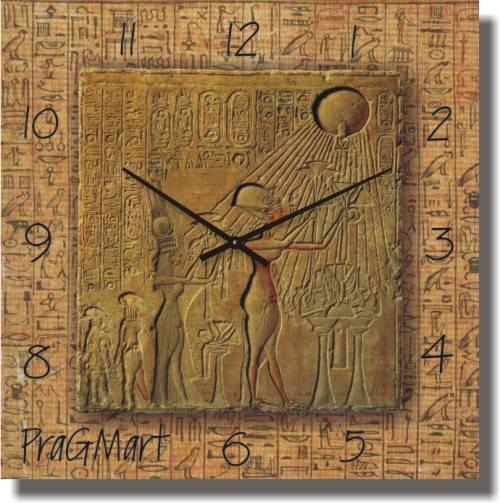 """Часы настенные большого размера """"Фреска египетская"""" (500мм) [Стекло, Открытые]"""