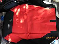 Чехлы сидений Daewoo Lanos Sens плотные красные