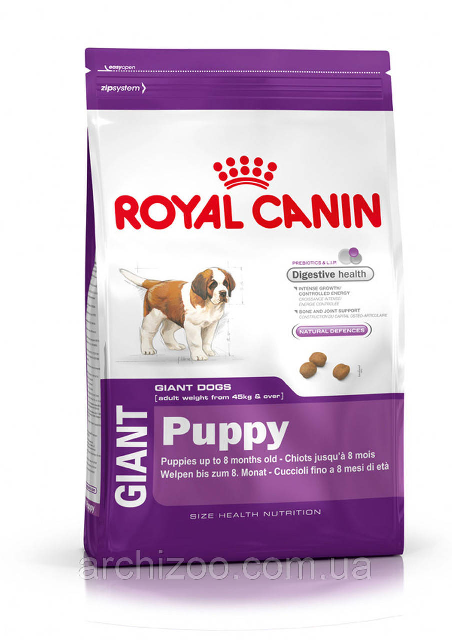 Royal Canin Giant Puppy 17 кг для щенков гигантских пород до 8 месяцев