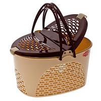 Корзина для пикника/животных SENYAYLA (48,5x37x28 см) бежевый с коричневым
