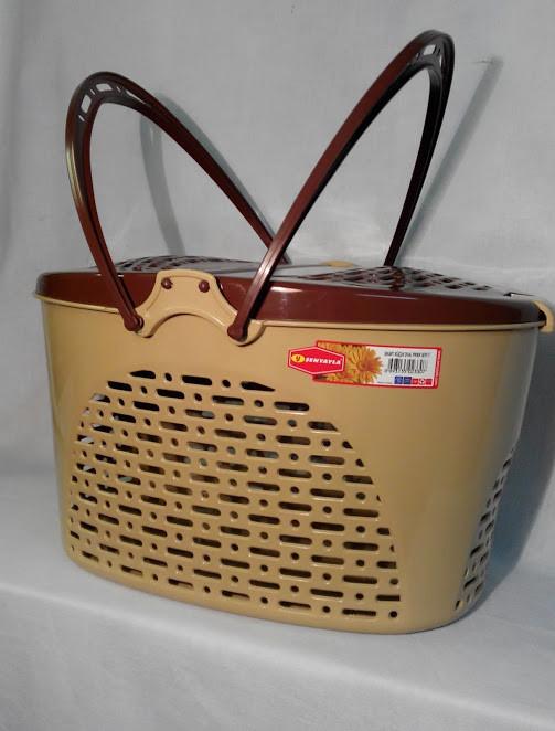 Корзина для пикника / животных SENYAYLA (40x30,5x23 см) бежево-коричневый