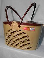 Корзина для пикника / животных SENYAYLA (40x30,5x23 см) бежево-коричневый, фото 1