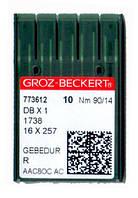 Иглы для промышленных швейных машин Groz-Beckert DBx1/1738/16x257/71x1 90 GEBEDUR