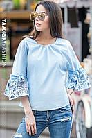 """Женская блуза свободного кроя """"Волан"""" в разных цветах"""