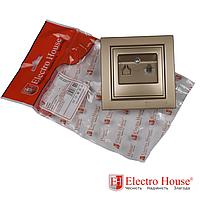 Розетка телефонная золотой Enzo EH-2112-LG