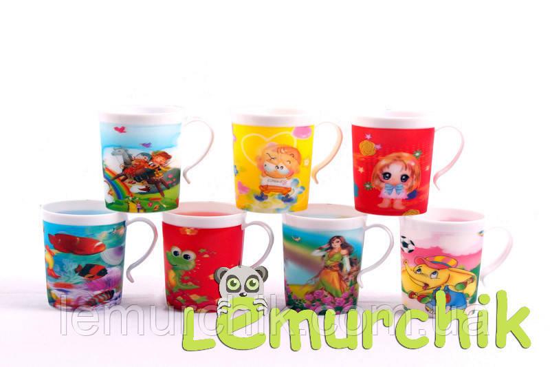 Чашка дитяча полегшена протиударна з 3d малюнком 200 мл Lindo