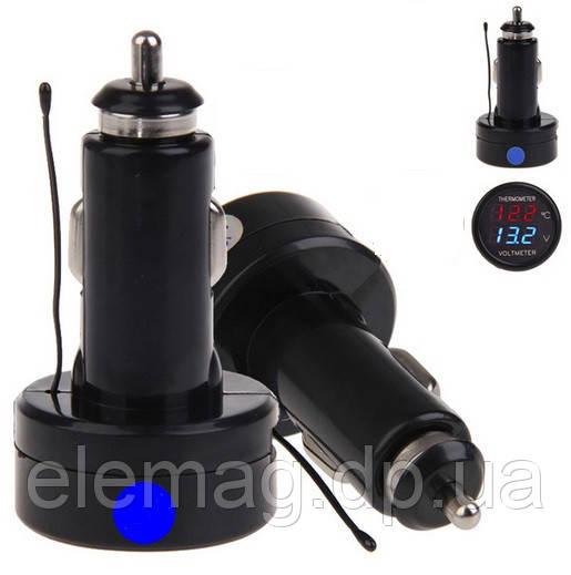 Автомобильный термометр-вольтметр в прикуриватель 2 в 1