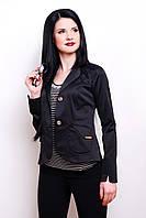 Однотонный женский пиджак из мемори коттона