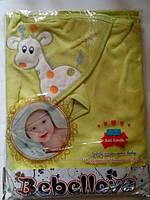 """Уголок полотенце """"Жираф"""" набор для купания для новорожденных цвет Салатовый"""