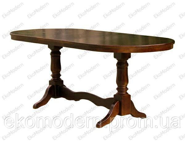Стол деревянный обеденный ЦЕЗАРЬ овальный для дома, ресторана и кафе