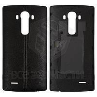 Задняя крышка батареи для мобильных телефонов LG G4 H810, черная, чёрная кожа