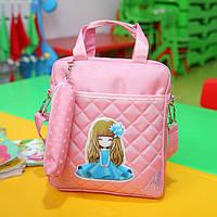 Школьная сумка - рюкзак для девочки с пеналом
