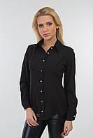 Блуза классическая делового стиля черный