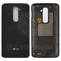 Задняя крышка батареи для мобильных телефонов LG G2 D802, черная