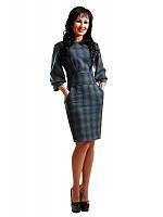 Платье с теплой костюмной ткани с 42 по 52 размер