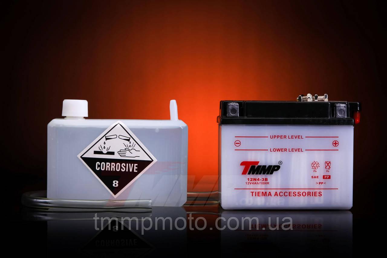 ТММР / Мото аккумулятор 12В 4Ач сухо заряженый с кислотой