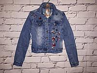 Стильный женский джинсовый пиджак (код 61096)