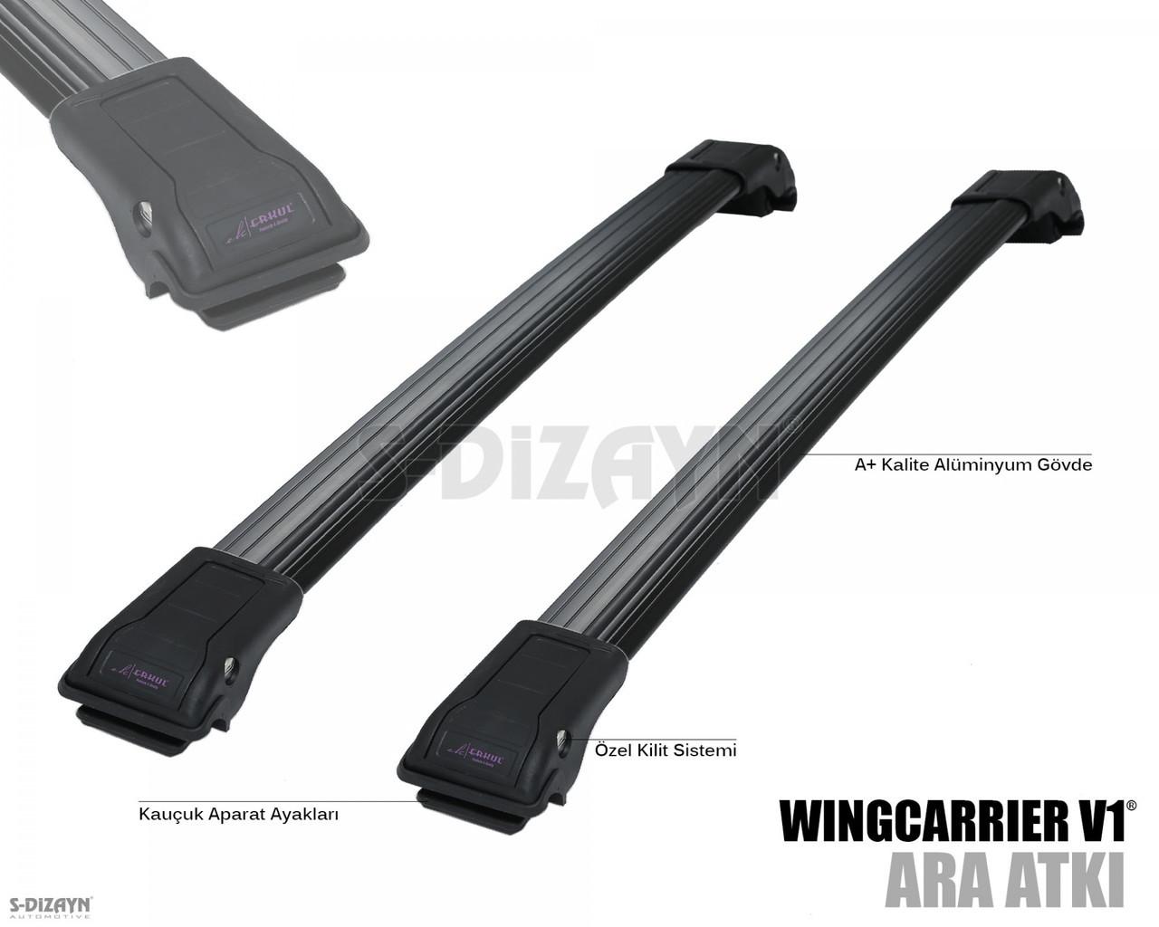 Поперечины на рейлинги Volkswagen Caddy 2004-2015 черные