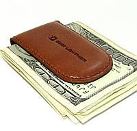 Кожаный кошелек Зажим для денег Рыжий